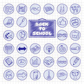 Doodle school buttons. — ストックベクタ