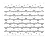 Jigsaw puzzle background — Stock Vector