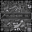 Hand drawn business icons set — Stock Vector #55314765