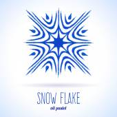 Doodle snow flake — Stock Vector