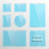 Glass plates set — Stock Vector