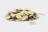 Golden coins pile — Стоковое фото