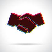 Icona di handshake. — Vettoriale Stock
