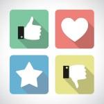 Like and dislike icons set — Stock Vector #58890071