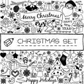 Doodle Christmas season icons — Stock Vector