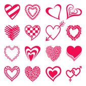 Set of heart shaped icons. — Stock Vector
