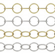 Seamless golden and silver chain — Stock Photo #64769887