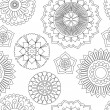 Seamless doodle flowers pattern. — Stock Vector #72270017