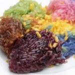Traditional Thai dessert , sticky rice — Stock Photo #55612075