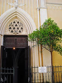 Entrance in a chapel Saint Bernandin (other name Chapel of the white penitents) on the Rostan street Antibes — ストック写真