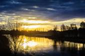 Late Autumn Sunrise — Stockfoto