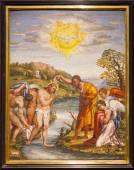 Mosaic Christ Baptism - Florence — Stock Photo