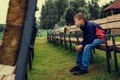 Portrait of a pensive teen — Stock Photo