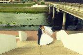 Portrait of newlyweds — Stock Photo