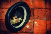 Hat with money — Stock Photo