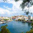 View of the Agios Nikolaos. Lake Voulismeni. — Stock Photo #54702889