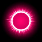 Pink energy ring — Stock Vector