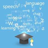 Språkinlärning — Stockvektor