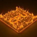 Burning cpu — Stock Photo #66853803