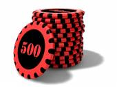 Rounded casino chips — Stock Photo