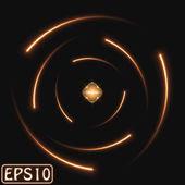 Светящийся модель атома — Cтоковый вектор