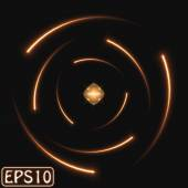 Glühende Atom-Modell — Stockvektor