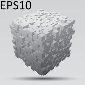 3d cube — Stock Vector