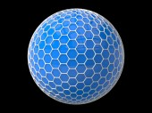 Hexagons plated sphere — Stock Photo