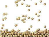 Golden lottery balls rain, filling screen. — Stock Photo