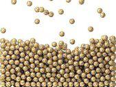 Golden lottery balls rain — Stock Photo