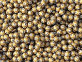 Golden lottery balls — Stock Photo