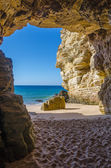 Cave at Praia do Beliche — Stock Photo
