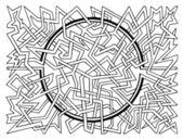 Brain-teaser vector labyrinth — Stock Vector