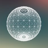 Fresh summer abstract sphere background. Connecting dots — Stock Photo