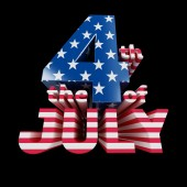 """""""The 4th of July"""" cool 3d render (isolated on black) — Stock Photo"""