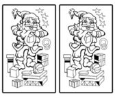 Santa Claus - Find the ten differences — Stock vektor