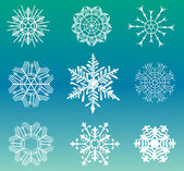 Different snowflakes set — Vecteur