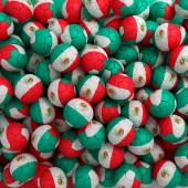 Mexico football balls (many). 3D render background — Foto de Stock
