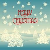Merry Christmas ornament landscape — Stock Vector