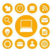 Office and Business Icons Set — Stock Photo
