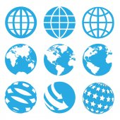9 Worlds Icons Sets — Stock Photo