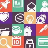 Kancelářské potřeby ikony nastavit — Stock vektor