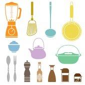 Kitchen Cookware Set — Stock Vector