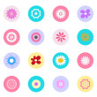 Flower icons set great for any use. Vector EPS10. — Stock Vector #61416237
