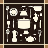 Kitchen tool icons set great for any use. Vector EPS10. — Stock vektor
