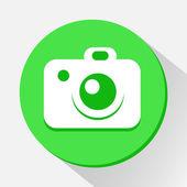 Ícone da câmera grande para qualquer uso. Vector Eps10. — Vetor de Stock