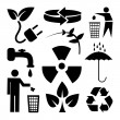 Recycle and ecology icons set great for any use. Vector EPS10. — Vector de stock  #63687217