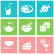 Food icons set great for any use. Vector EPS10. — Stock Vector #63687607