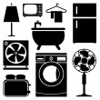 Electronics Home icons set great for any use. Vector EPS10. — Stock Vector #63688829