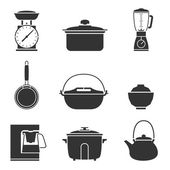 Kitchen tools icons set great for any use. Vector EPS10. — Wektor stockowy
